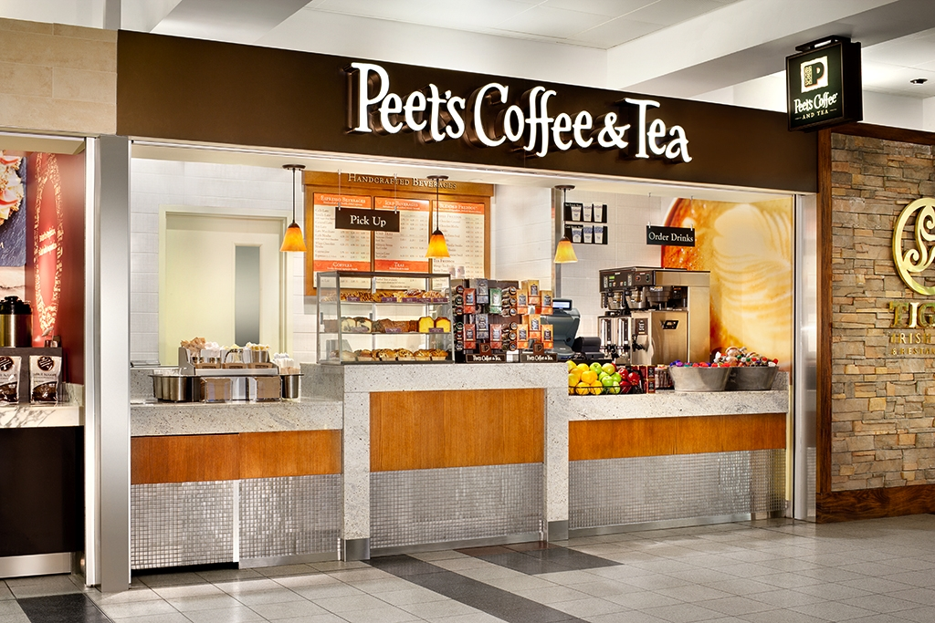 Peets Coffee and Tea. John F. Kennedy Airport.  Terminal 4. SSP